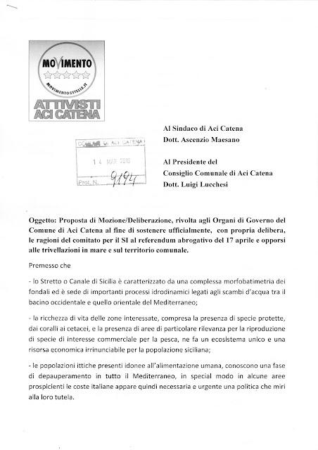 Istanza Protocollata del 14-03-16