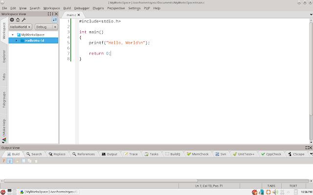Running Codeblock in PC-BSD