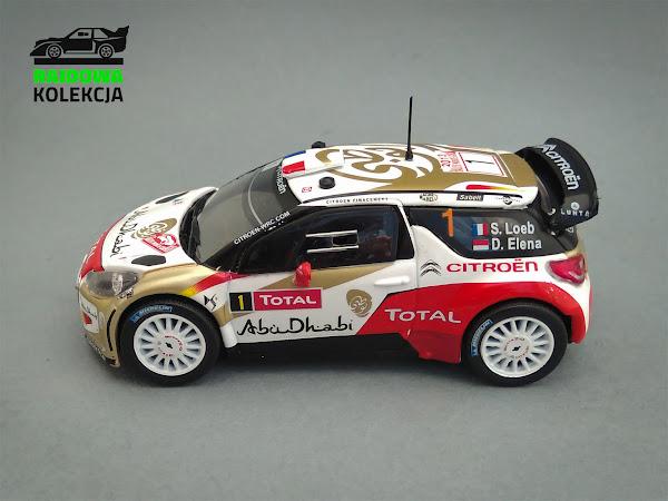 IXO Eaglemoss Citroen DS3 WRC, Zwycięzca Rajdu Monte-Carlo 2013