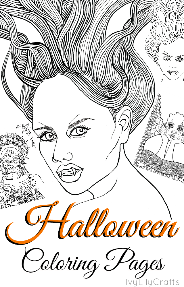 Halloween coloring pages and Inktober 2016 aftermath. Have a look at the coloring pages I made and read what I learned from taking part in Inktober.