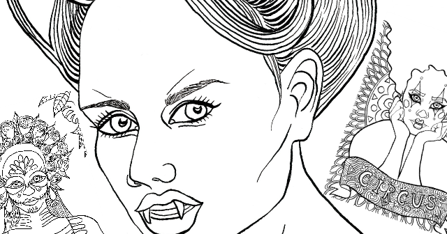 calavera catrina coloring pages - photo#35