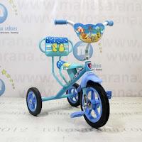 Sepeda Roda Tiga BMX Arava Alfrex Sandaran Blue