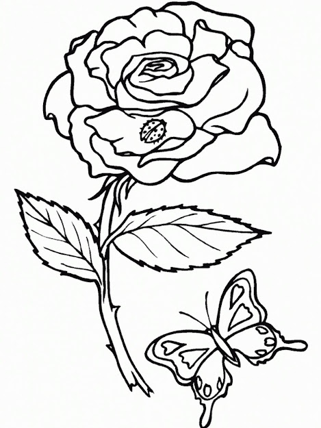 Roses Coloring Pages Free Printable Roses Coloring Pages For Kids Coloring  Online
