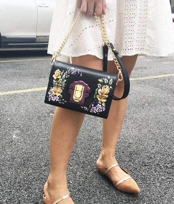 Women's Vintage Flower Clutch Bag