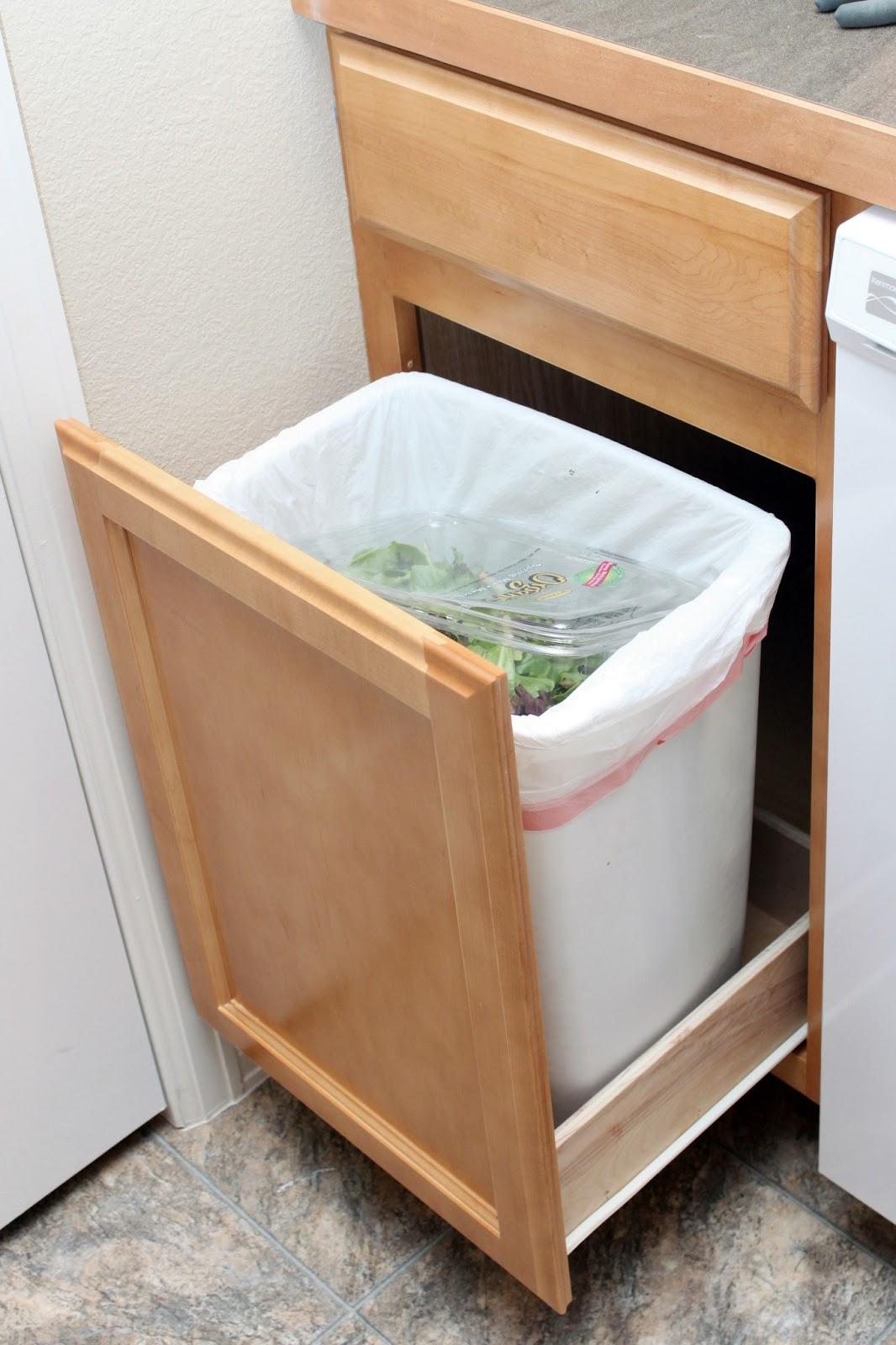 our modern homestead diy pull out trash drawer. Black Bedroom Furniture Sets. Home Design Ideas