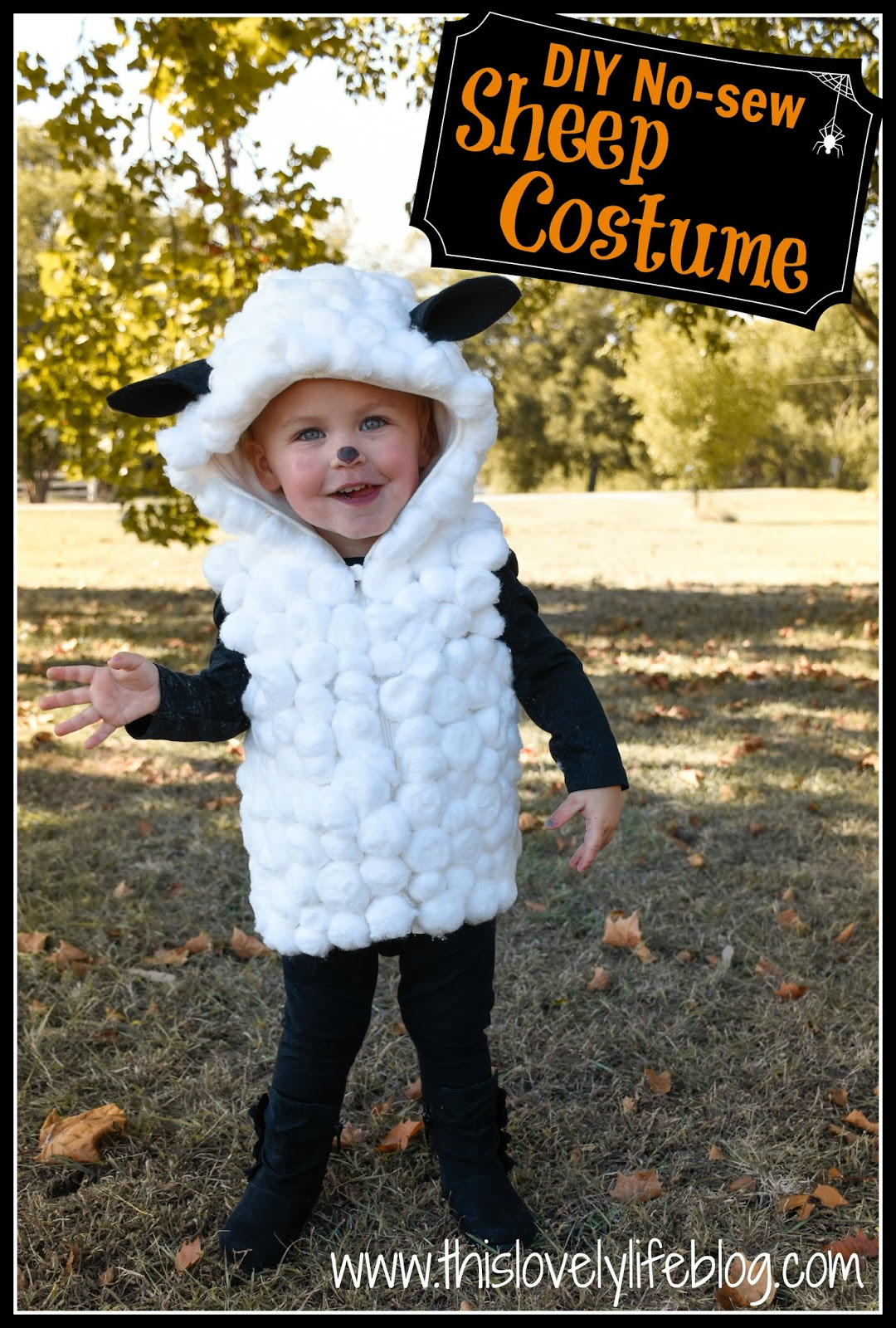 10.20.2015  sc 1 st  This Lovely Life & This Lovely Life: DIY NO-SEW SHEEP COSTUME