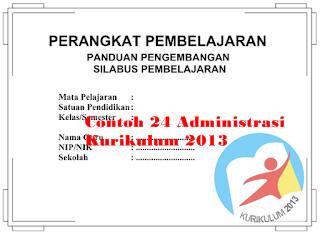 Contoh 24 Administrasi Kurikulum 2013 Kelas 3 Sekolah Dasar