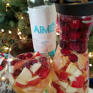 Holiday White Sangria with Aime Sweet Moscato