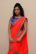 tejaswini sizzling photos in saree-thumbnail-2