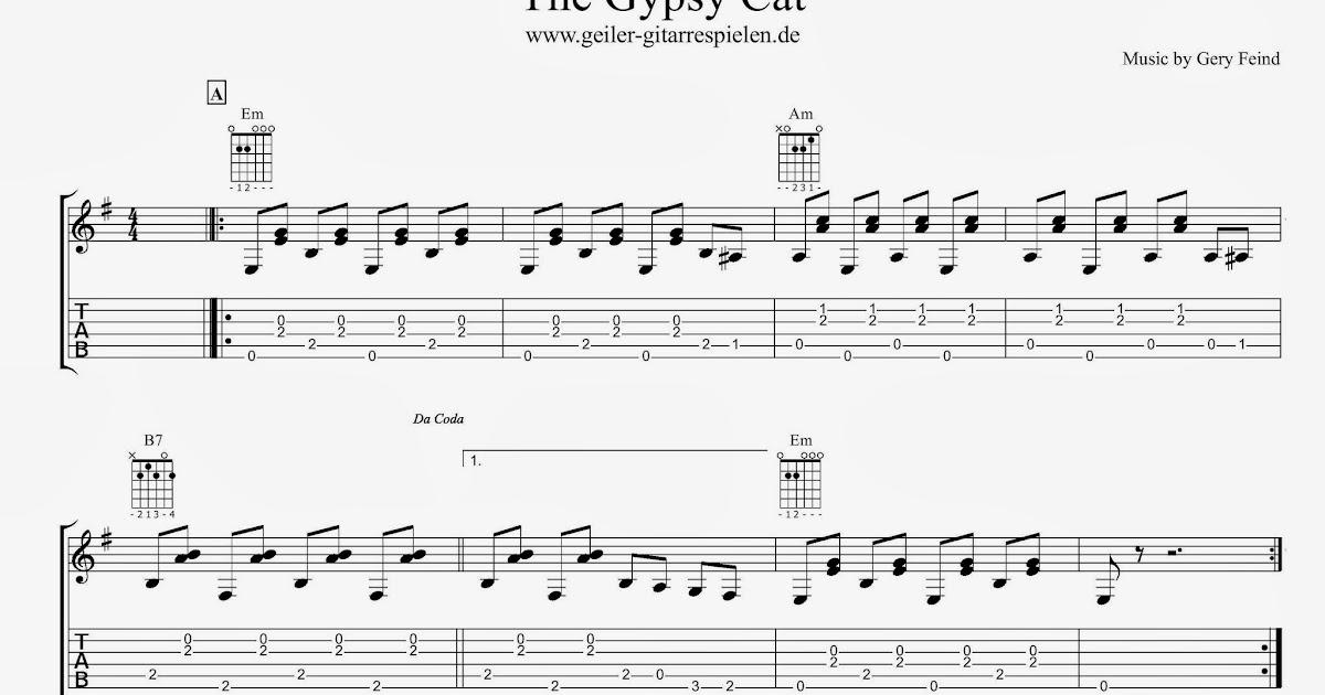 Gypsy-Blues in Em | Einfach geiler Gitarre spielen!
