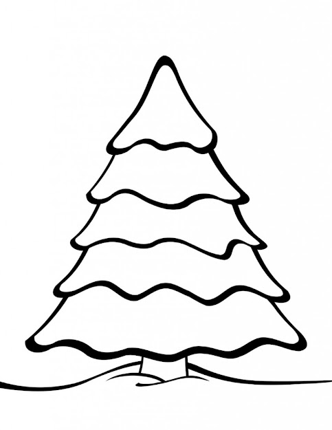 Plain Tree Coloring Page