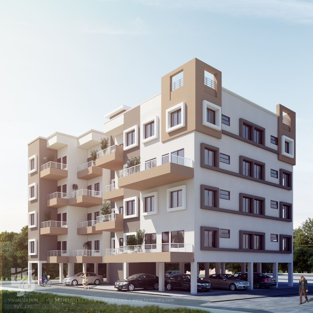 What Is A Bungalow Apartment: 3D ARCHITECTURAL VISUALIZATION: 3D EXTERIOR DESIGN DAY