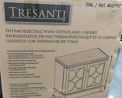 Tresanti Thermoelectric Wine Cooler & Cabinet: can fit at least 24 bottles and stemware