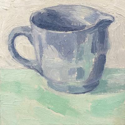 Daily Painting #22 'Blue Milk Jug' 6×6″