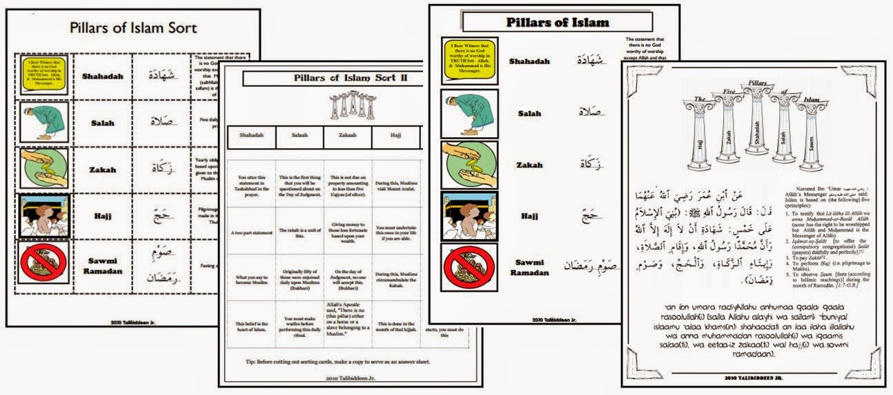 Printable Worksheets islamic studies worksheets : Iman's Home-School: Pillars of Islam Worksheets