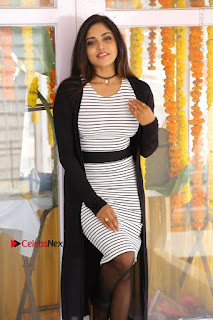 Telugu Actress Karunya Chowdary Stills in Black Dress at Soda Goli Soda Movie Opening  0318.JPG