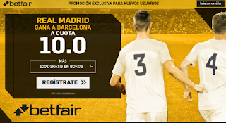 betfair supercuota Real Madrid gana a Barcelona Super Copa España 16 agosto