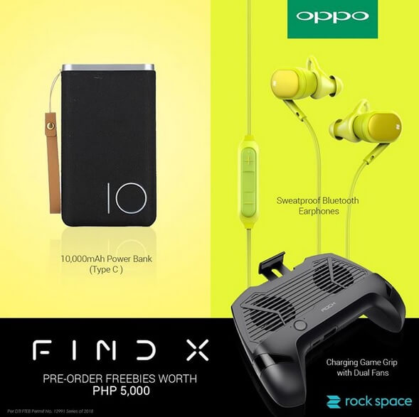 OPPO Find X Pre-Order Freebies