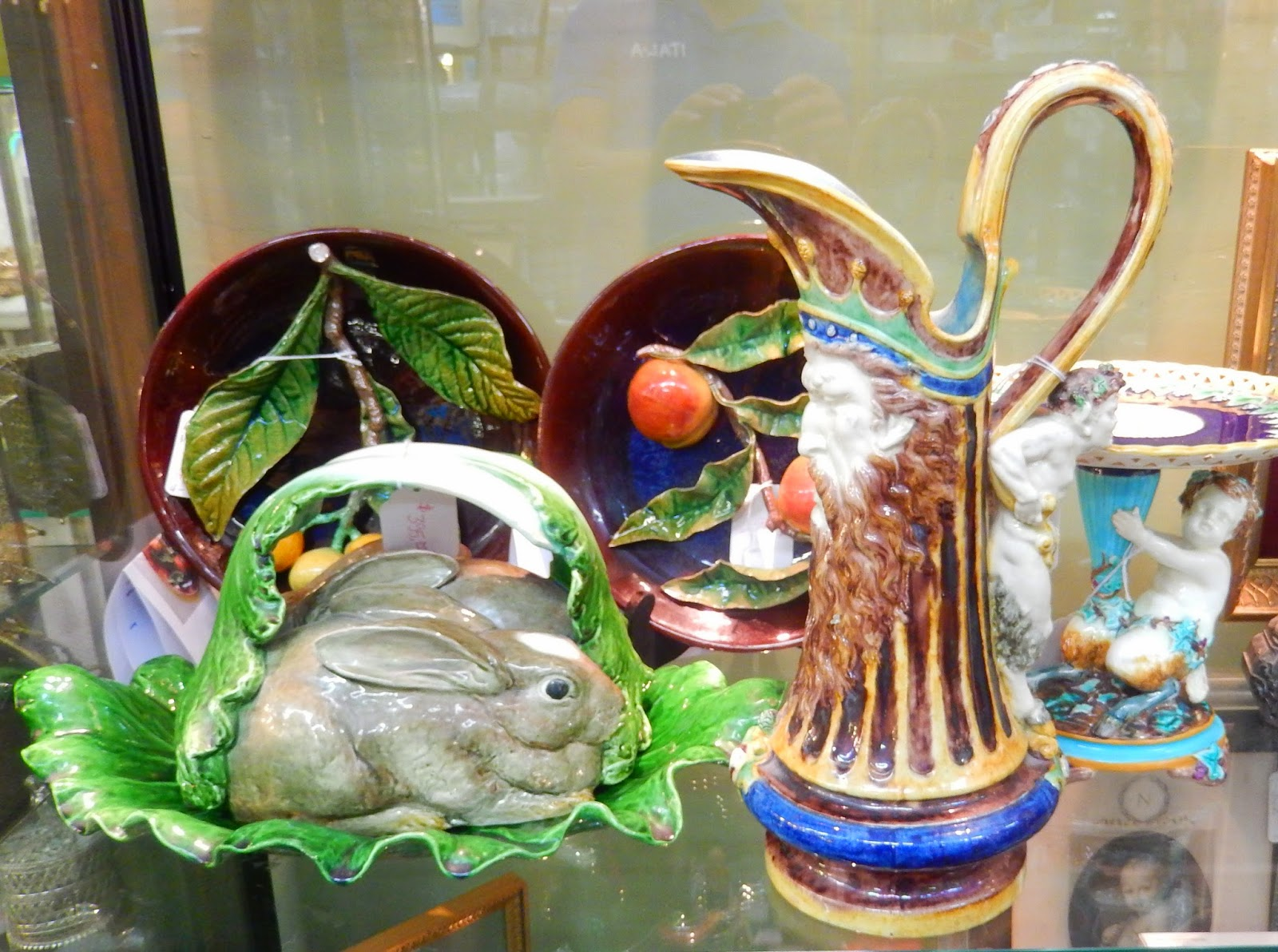 Lovely Collection Of Vintage European Majolica Rabbit