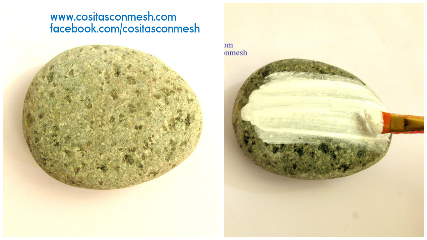 Aprende c mo pintar casitas sobre piedras paso a paso for Como pintar piedras