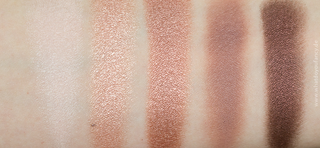 Romantischer Roségold-Look Lorac Unzipped Swatches