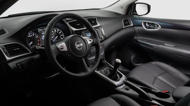 Interior deportivo del nuevo Nissan Sentra SR Turbo 2017