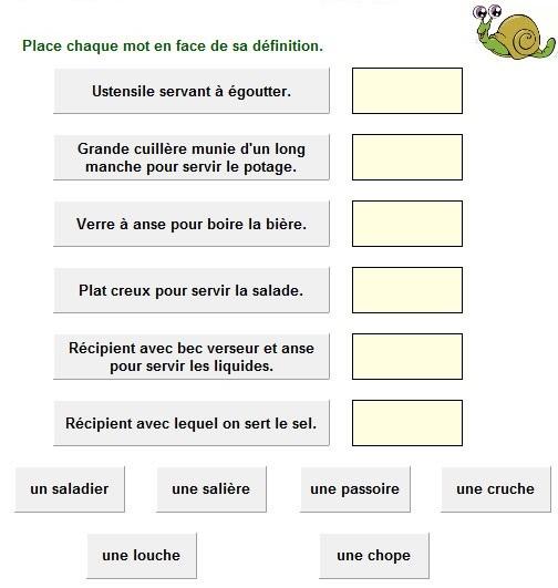 Autour de la gastronomie jeu de d finitions la cuisine for A la cuisine meaning