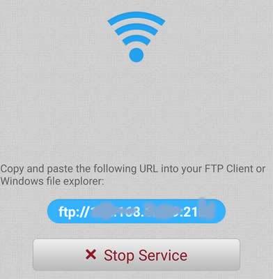 indirizzo ftp da copiare sul esplora risorse