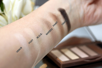 eyeshadow swatches naked basics urban dekay palette