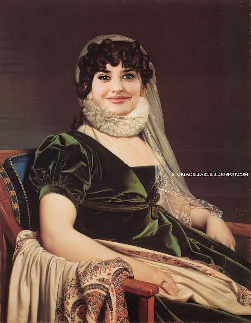 fotomontaggi di personaggi famosi in dipinti classici