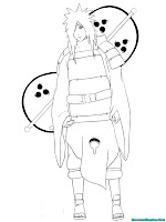 Printable Naruto Shippuden Enemy Kids Coloring Pages