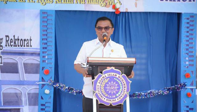 Wagub Sulsel Beri Kuliah Perdana di kampus IAIM Sinjai
