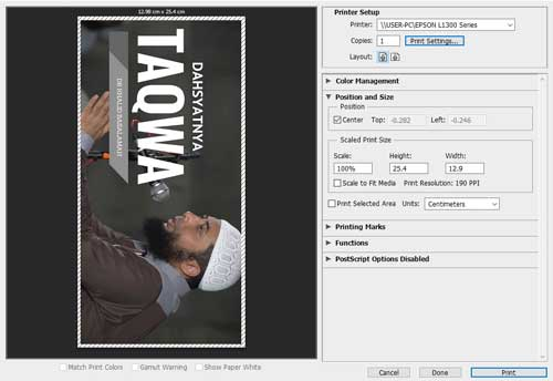 akibatnya sanggup eksklusif di print di photoshop Cara Membuat Label CD di Photoshop Bisa Langsung Print