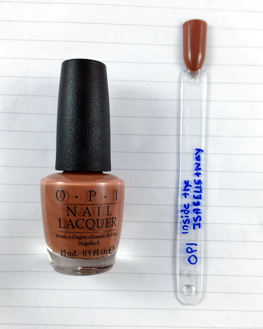 Tori's Pretty Things// OPI Inside the IsaBELLEtway Swatch