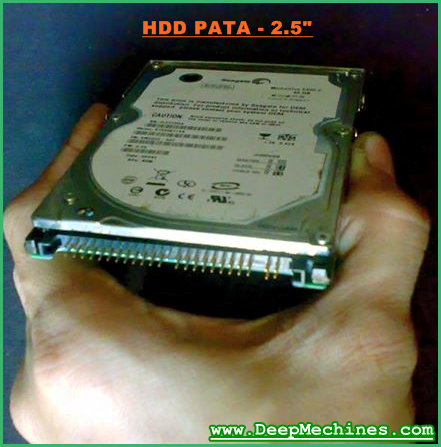 """Bentuk Hardisk 2.5"""" dengan PATA Kabel Interface"""