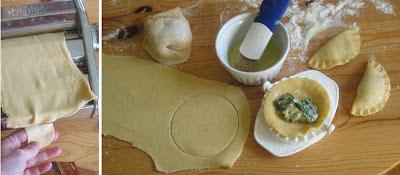 Teig auswellen mit der Nudelmaschine und Zubereitung der Ravioli