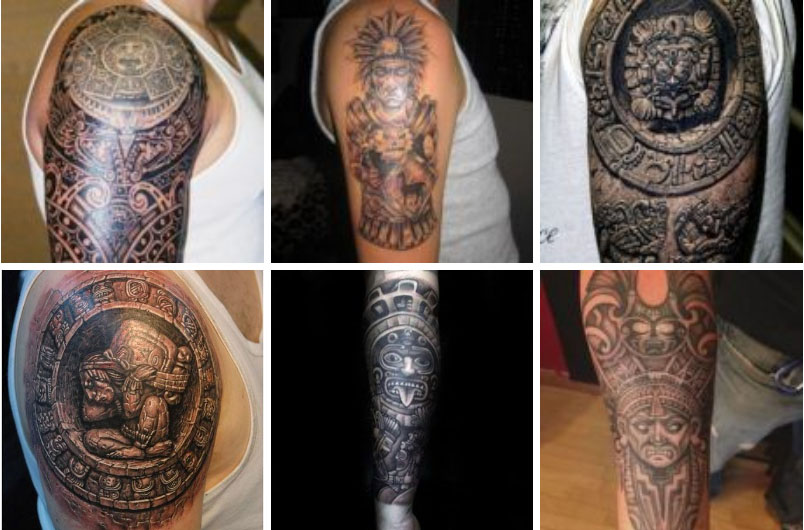 25 Mejores Tatuajes Maya Historia Símbolos Y Su Significado 2019