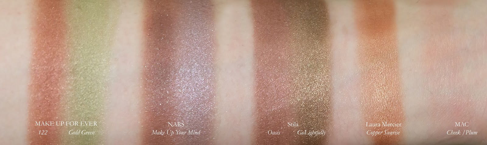 Swatches of Best Eye Shadows product review