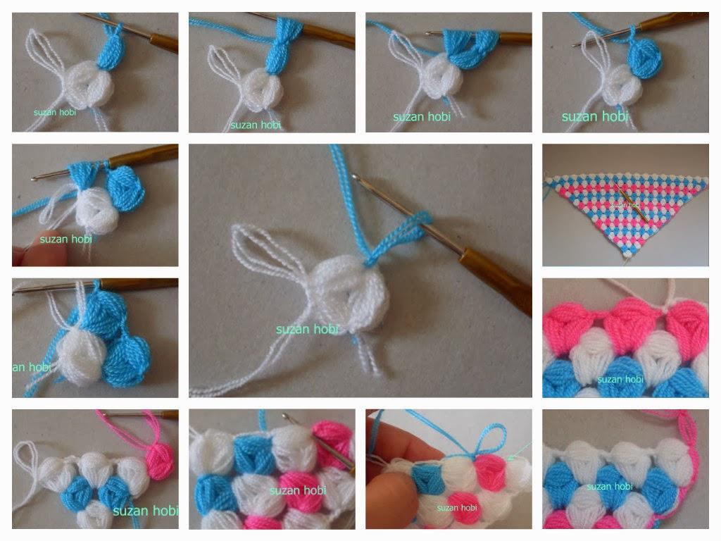 Como hacer Punto Cacahuete o Mani de Crochet