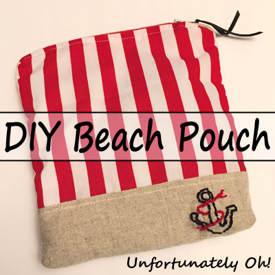 beachy zipper pouch