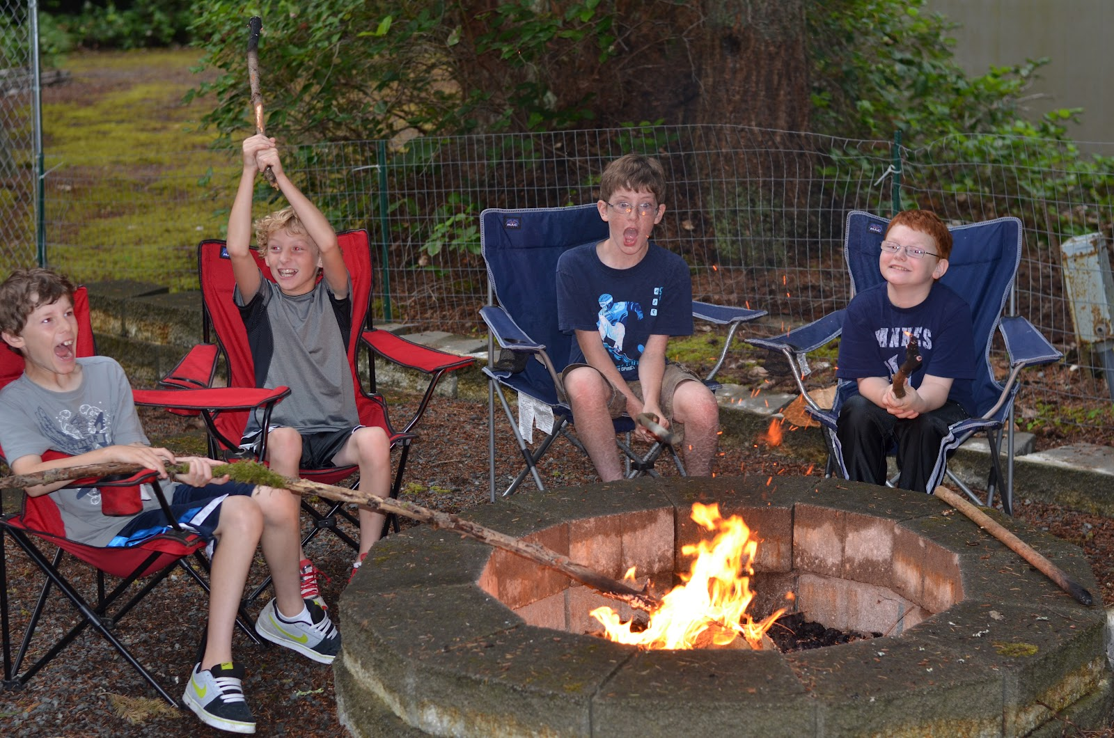 little irish: backyard camping