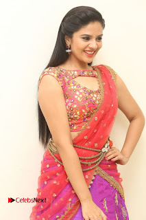 Anchor Srimukhi Pictures in Half Saree at Aatadukundam Raa Movie Audio Launch  0052.JPG