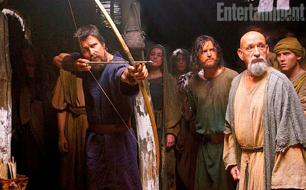 Christian Bale y Ben Kingsley en Exodus: Gods and Kings