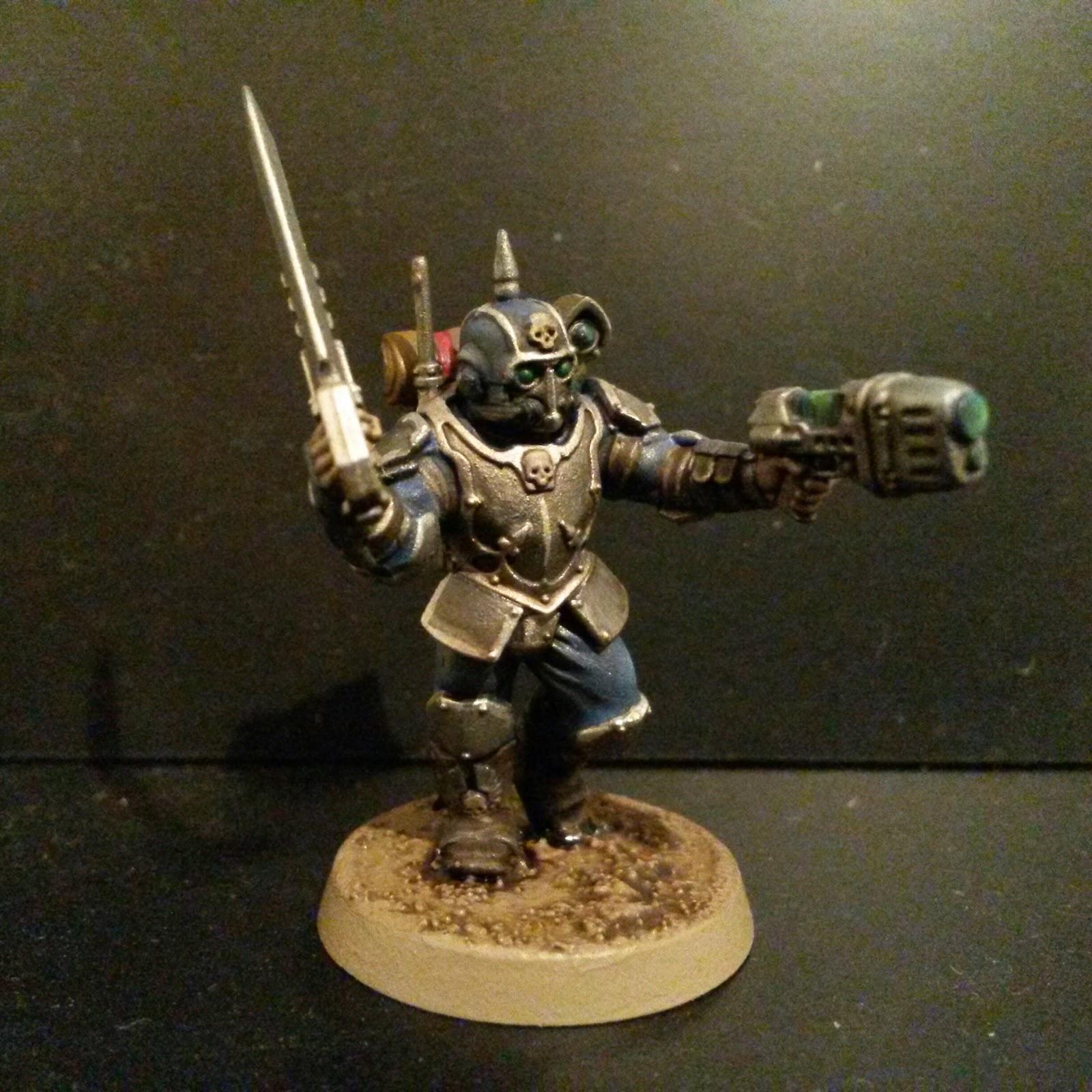 Grey Blue Paint Lectitio Divinitatus Militarum Tempestus Tempestor Scion