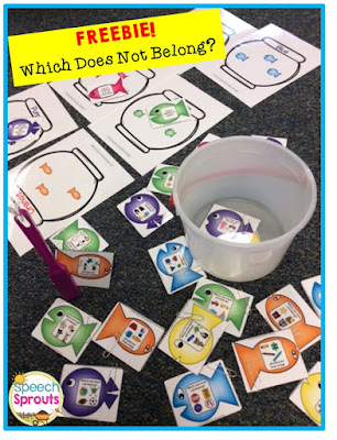 What Does Not Belong? Fun Fishing Game by Speech Sprouts www.speechsproutstherapy.com