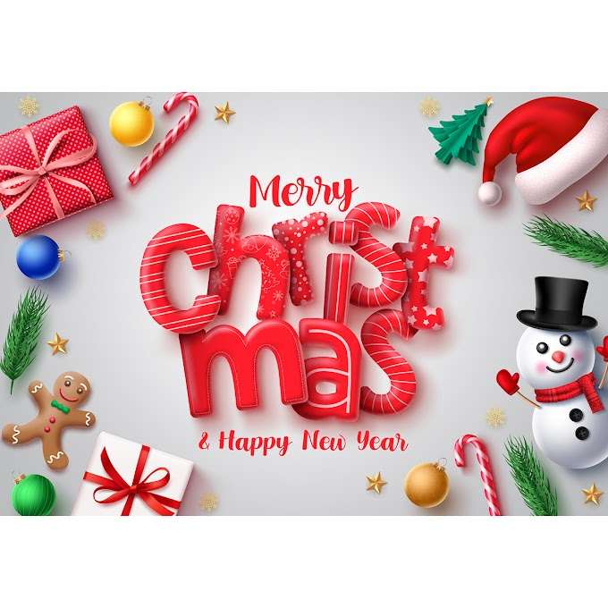 xmas greetings Red font christmas card background vector