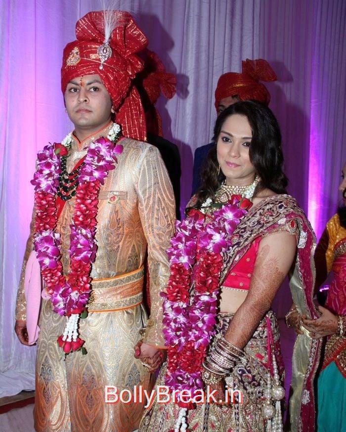 Abhishek Chhajer, Karishma Jain, Elli Avram Hot Pics At Karishma Jain & Abhishek Chhajer Wedding Ceremony