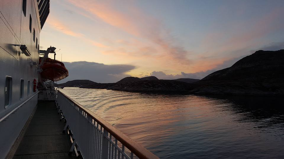 A Norwegian sunset as seen from the decks of Hurtigruten. Photo: Harald Hansen / Innovation Norway. Unauthorized use is prohibited.