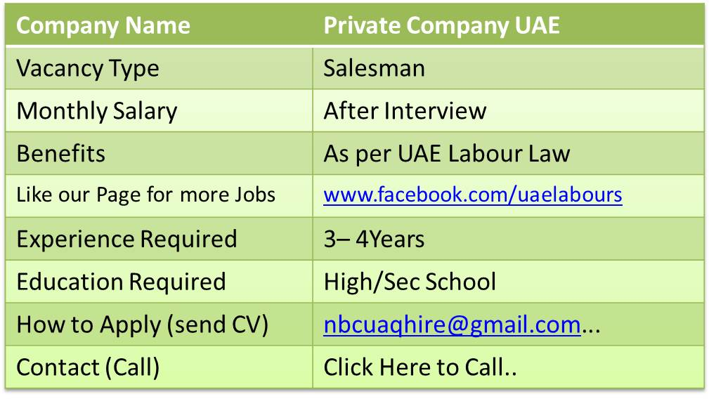 sales executive jobs uae