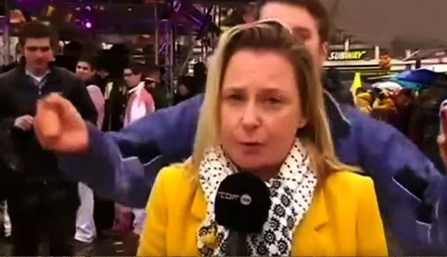 En plena transmisión en vivo reportera es acosada sexualmente